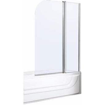 Parete sopravasca girevole cromata da 100 cm vetro in for Parete sopravasca