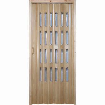 Porte a soffietto in pvc colori cromo con vetri for Porte a soffietto on line
